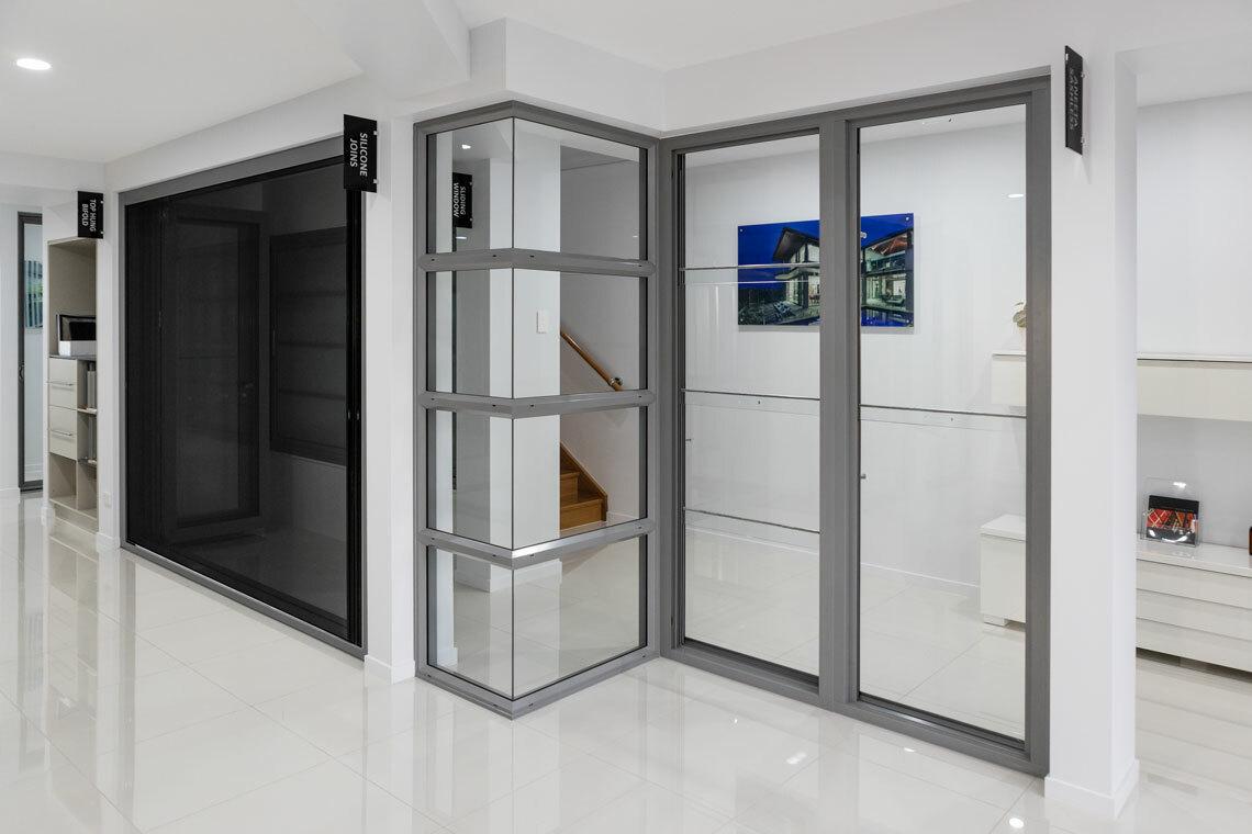 Centor S4, 411 Bi-fold Door, Mitred Glazing and Aneeta Sashless